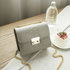 AnkarasBest Bags - Alligator Crocodile Mini Shoulder Bag Blue